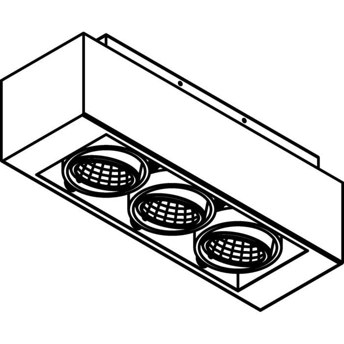Drawing of 1984.IP20/.. - LUXOR UP XICATO, Aufbau Deckenleuchte - schwenkbar - down - mit Led - mit Driver LED