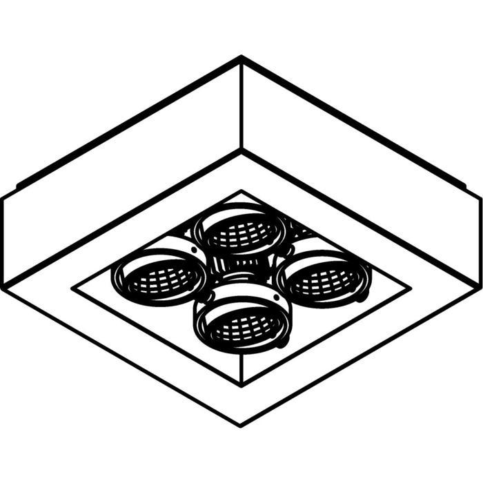 Drawing of 1985.IP20/.. - LUXOR UP XICATO, opbouw plafondverlichting - richtbaar - down - met led - met LED driver