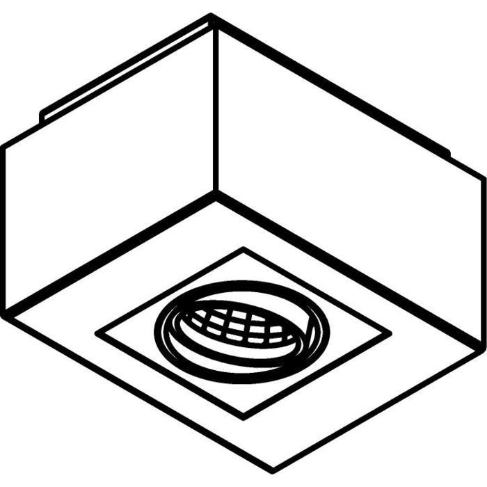 Drawing of 1987.IP20/.. - LUXOR UP XICATO, Aufbau Deckenleuchte - schwenkbar - down - mit Led - mit Driver LED