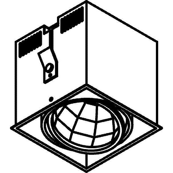 Drawing of 4071.IP20/.. - LUXOR - SPINNER, inbouwspot - vierkant - richtbaar - down - met led - zonder LED driver