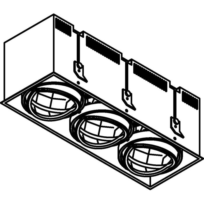 Drawing of 4073.IP20/.. - LUXOR - SPINNER, inbouwspot - vierkant - richtbaar - down - met led - zonder LED driver