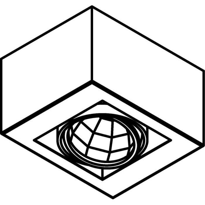 Drawing of 4081.IP20/.. - LUXOR UP XICATO, opbouw plafondverlichting - richtbaar - down - met led - met LED driver