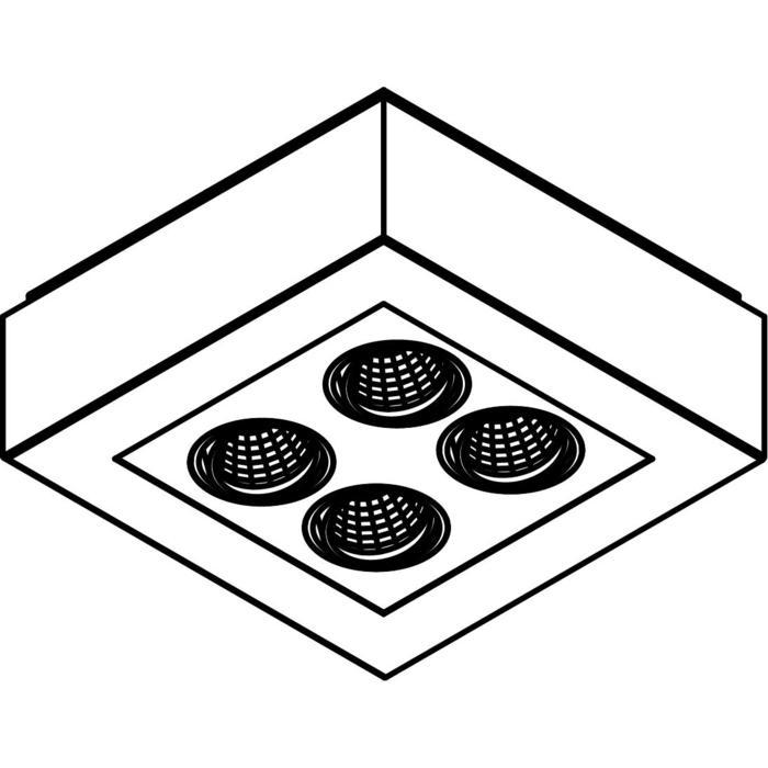 Drawing of 1969.IP20/.. - LUXOR UP XICATO, opbouw plafondverlichting - richtbaar - down - met led - met LED driver