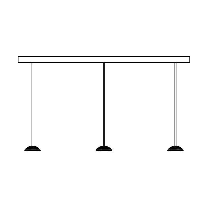 Drawing of 1826X3/.. - NAOMI SET 3 XICATO, hanglamp met bolgewricht - stang inkortbaar - met LED driver