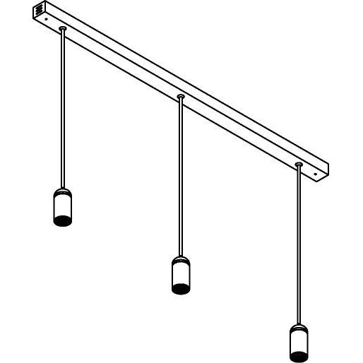 Drawing of 1827X3.IP20/.. - NAOMI SET 3 XICATO, hanglamp met bolgewricht - down - stang inkortbaar - met LED driver