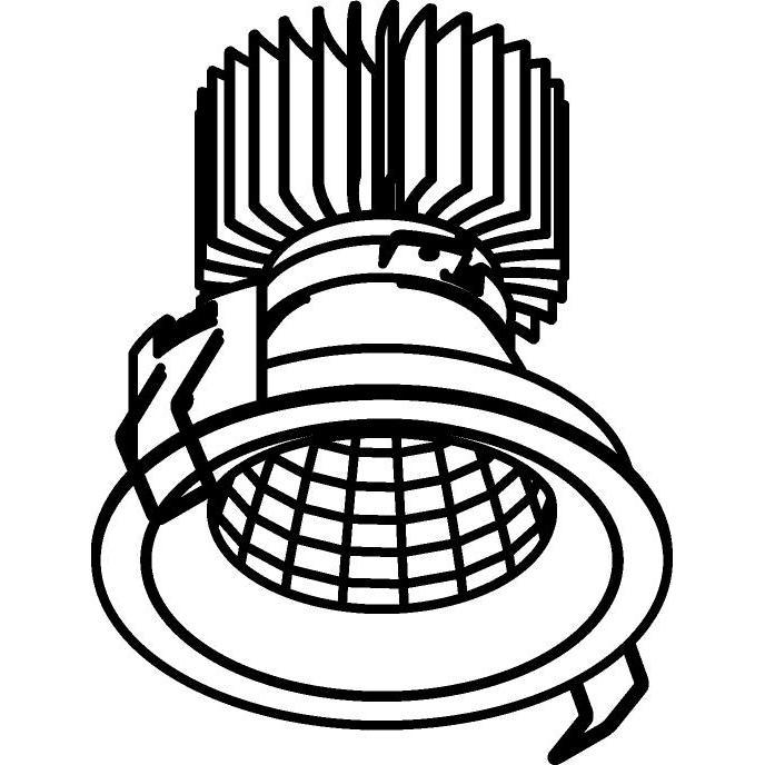 Drawing of 1392.IP20.S1/.. - LUXOR BOMBA.IP20, spot encastrable - rond - fixe - avec led - sans driver LED