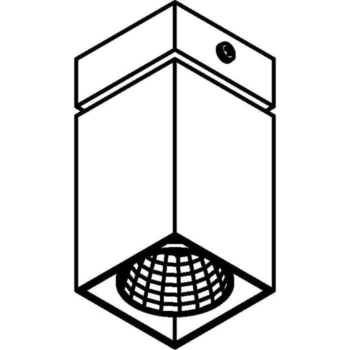 Drawing of 4086.IP20/.. - FIXER XICATO, opbouw plafondverlichting - vast - zonder LED driver