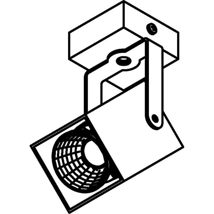 Drawing of 4088.IP20/.. - FIXER XICATO, opbouw plafondverlichting - richtbaar - zonder LED driver