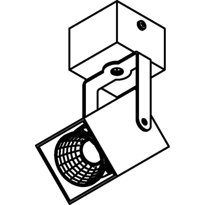 Drawing of 4089.IP20/.. - FIXER XICATO, opbouw plafondverlichting - richtbaar - niet dimbaar - met LED driver
