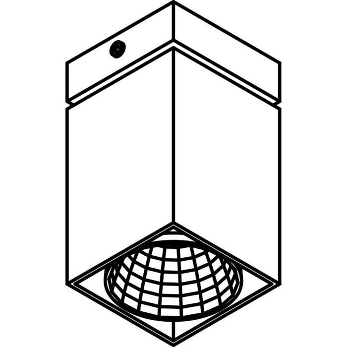Drawing of 4091.IP20/.. - FIXER XICATO, opbouw plafondverlichting - vast - zonder LED driver