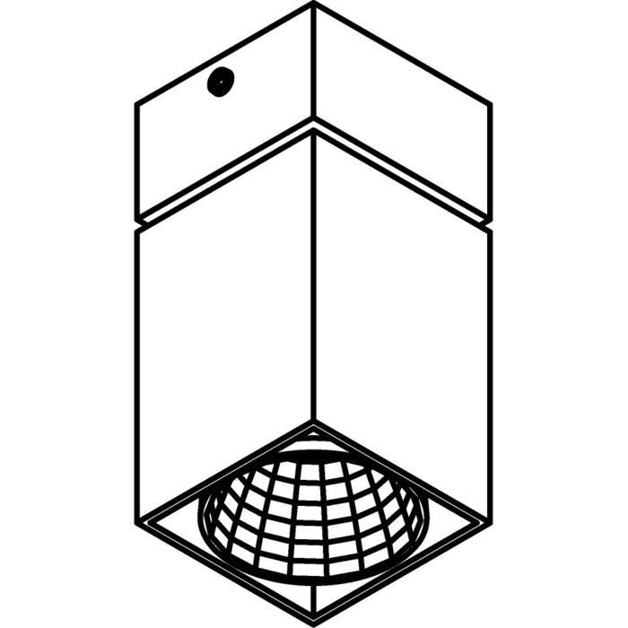 Drawing of 4092.IP20/.. - FIXER XICATO, opbouw plafondverlichting - vast - niet dimbaar - met LED driver