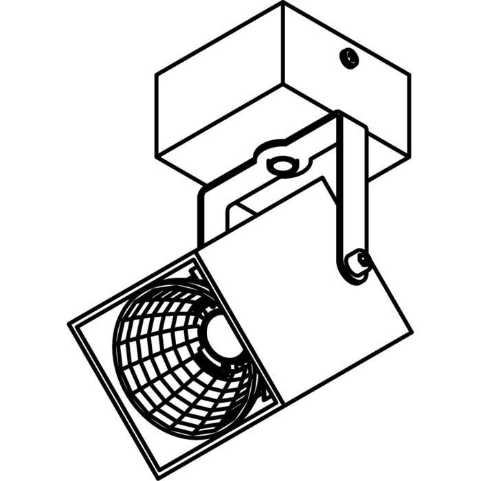 Drawing of 4094.IP20/.. - FIXER XICATO, opbouw plafondverlichting - richtbaar - niet dimbaar - met LED driver