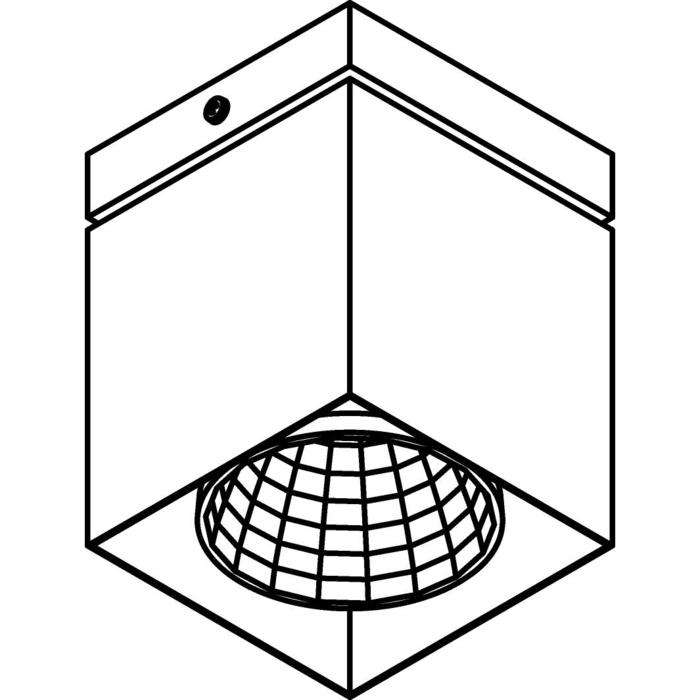 Drawing of 4096.IP20/.. - FIXER XICATO, opbouw plafondverlichting - vast - zonder LED driver