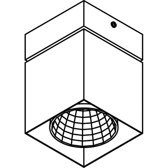 Drawing of 4097.IP20/.. - FIXER XICATO, opbouw plafondverlichting - vast - niet dimbaar - met LED driver