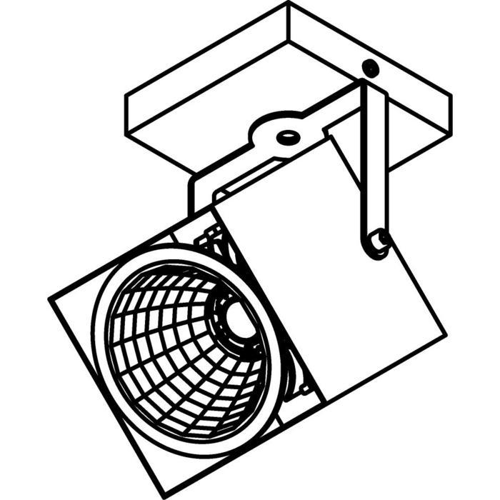 Drawing of 4098.IP20/.. - FIXER XICATO, opbouw plafondverlichting - richtbaar - zonder LED driver