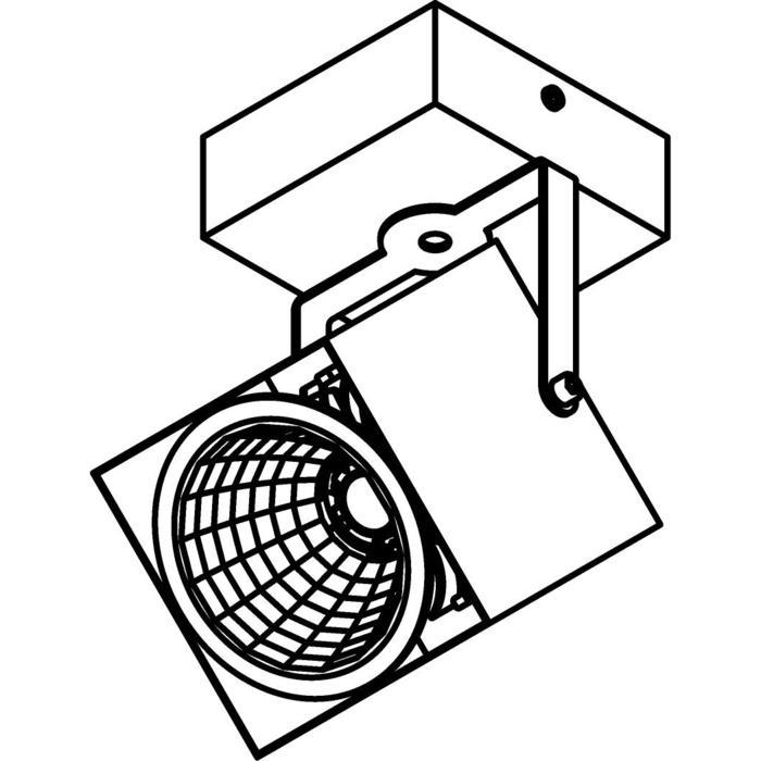 Drawing of 4099.IP20/.. - FIXER XICATO, opbouw plafondverlichting - richtbaar - niet dimbaar - met LED driver