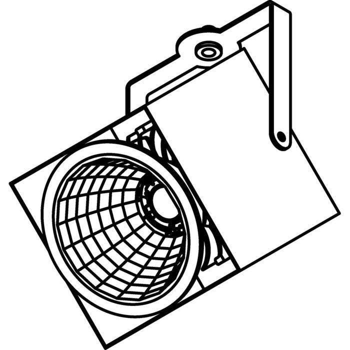 Drawing of 4100.IP20/.. - FIXER XICATO, opbouwspot - vierkant - richtbaar - met LED-module - zonder LED driver