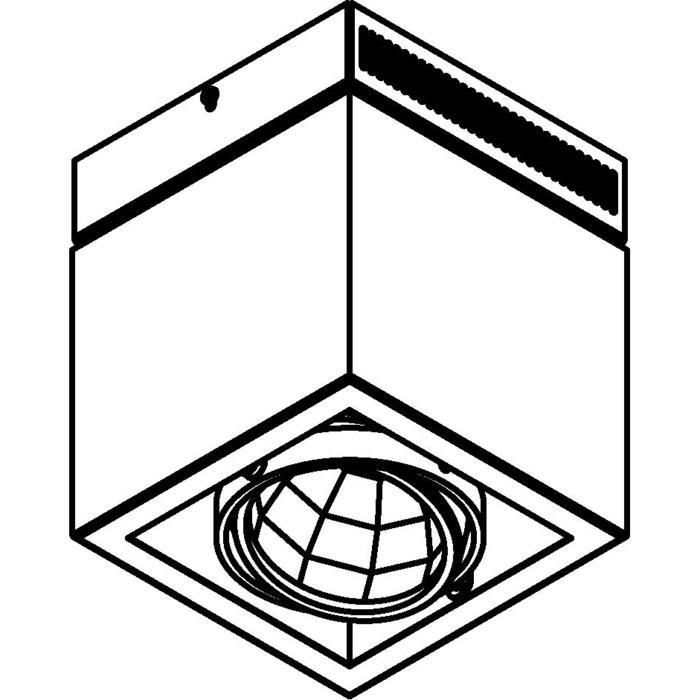 Drawing of 4105.IP20/.. - FIXER XICATO, opbouw plafondverlichting - richtbaar - niet dimbaar - met LED driver