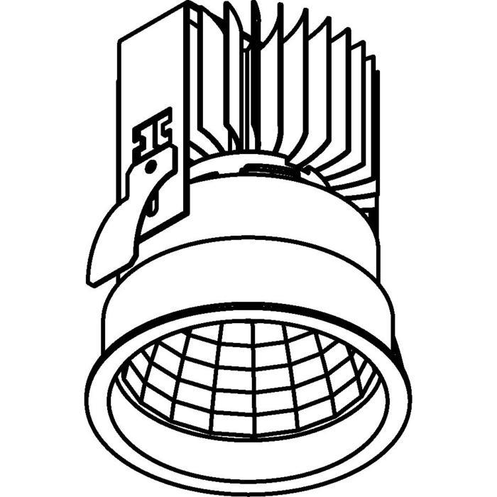 Drawing of 1764.IP20.S2/.. - KOZA X Ø80.IP20, inbouwspot - rond - vast - zonder LED driver