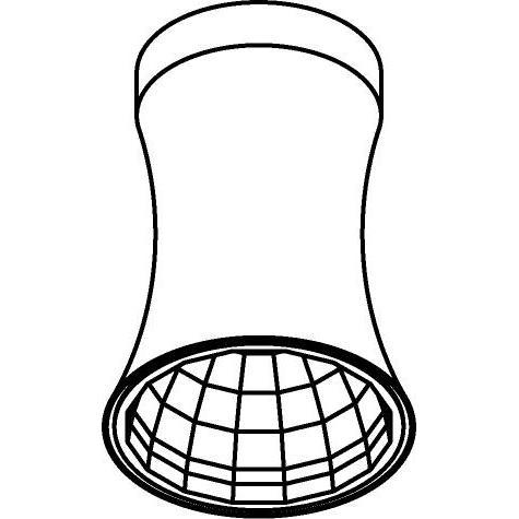 Drawing of 3400.IP20/.. - CLARA XICATO, opbouw plafondverlichting - vast - down - met LED driver