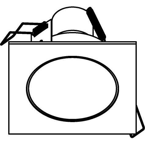 Drawing of 3174/.. - FLUX INOX 316 Ø92, inbouwspot - vierkant - vast - met helder glas