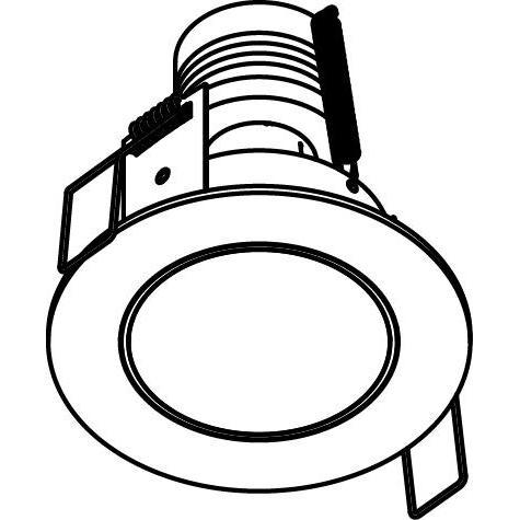 Drawing of 3161/.. - FLUX INOX 316 Ø72, inbouwspot - rond - vast - met helder glas - zonder transfo