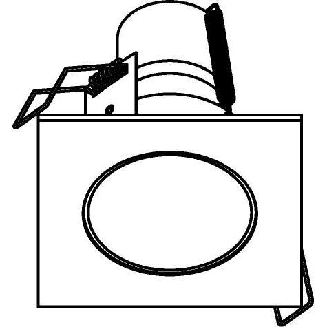 Drawing of 3164/.. - FLUX INOX 316 Ø72, inbouwspot - vierkant - vast - met helder glas