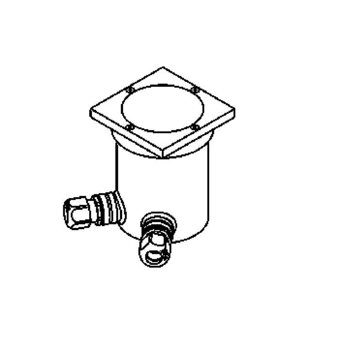 Drawing of 2205.X/.. - LAVA, grondspot - vast - 230V