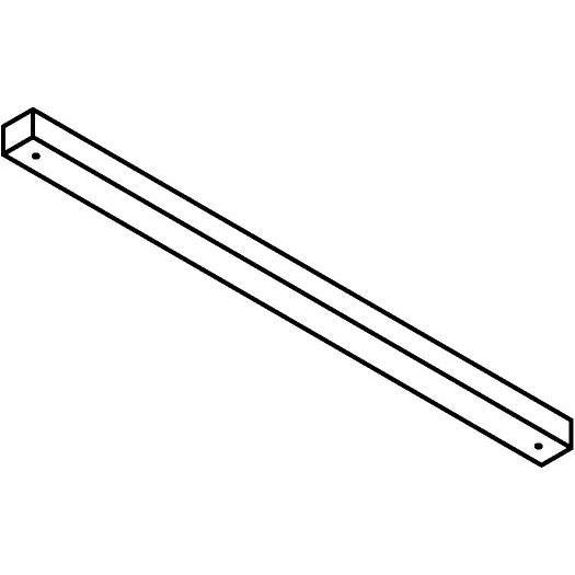 Drawing of 814.D.ZT/.. - JUBA ZT, plafondverlichting zonder spot of pendel - 2m50 - zonder transfo's