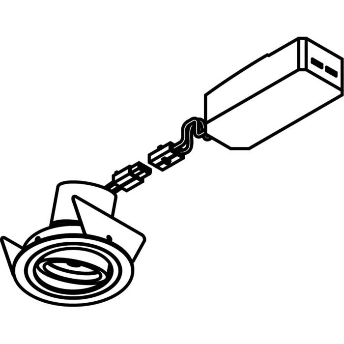 Drawing of 555.10011/.. - NOVA LED + DRIVER, inbouwspot - rond - richtbaar - down - dimbaar - kit (driver + led + spot) - met LED driver