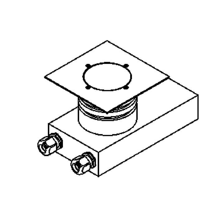 Drawing of 1157.150/.. - ETNA, vloerspot met afdekkader op de bevloering - vast - met transfo