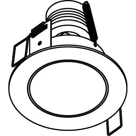 Drawing of 3166/.. - FLUX INOX 316 Ø82, inbouwspot - rond - vast - met helder glas - zonder transfo