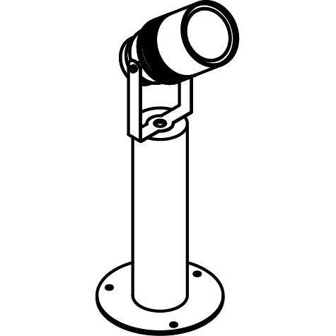Drawing of T7034.45/.. - UFO GRANDE, tuinpaal - met glas
