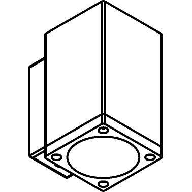 Drawing of W712/.. - MAURO, opbouw wandlicht - down