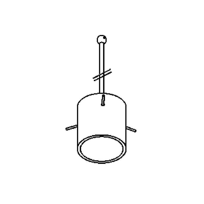 Drawing of 4028X.B3/.. - GUILIA C, hanglamp met bolgewricht - stang inkortbaar - glas zwart/goud inbegrepen