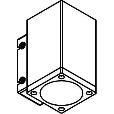 Drawing of W714/.. - MAURO, opbouw wandlicht - down