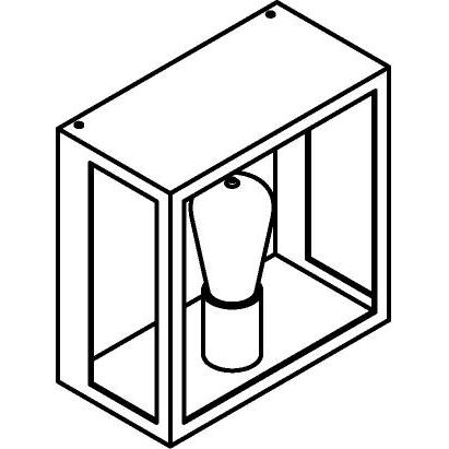 Drawing of W736/.. - POLO, opbouw wandlicht