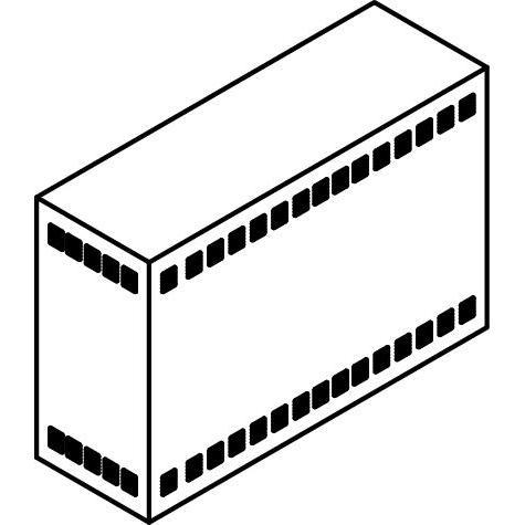 Drawing of TR40X/.. - NEW TRANSFOKAST PERFO, transfokast - voor transfos of led drivers