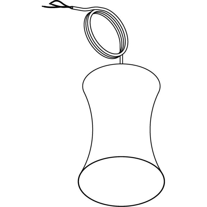 Drawing of 3404/.. - CLARA, hanglamp - vast - met 1,5m textielkabel en trekontlasting aan fitting