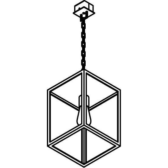 Drawing of W746.CH/.. - POLO, hanglamp met ketting en opbouwdoos
