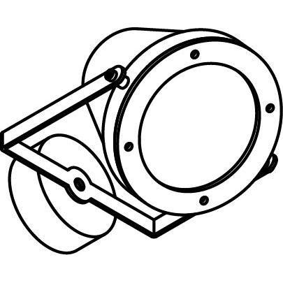 Drawing of W1207X.LED/.. - EXTER, opbouw wandlicht - richtbaar