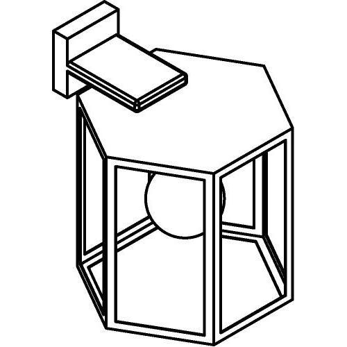 Drawing of W753/.. - POLO, opbouw wandlicht