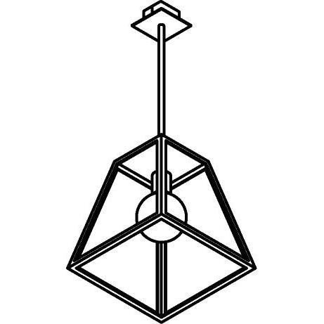 Drawing of W749.B3/.. - POLO, hanglamp met bolgewricht en opbouwdoos