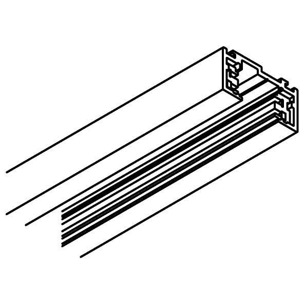 Drawing of 8082/.. - MERO 48V TRACK, 4-conductor surface track 48VDC - 2 meter