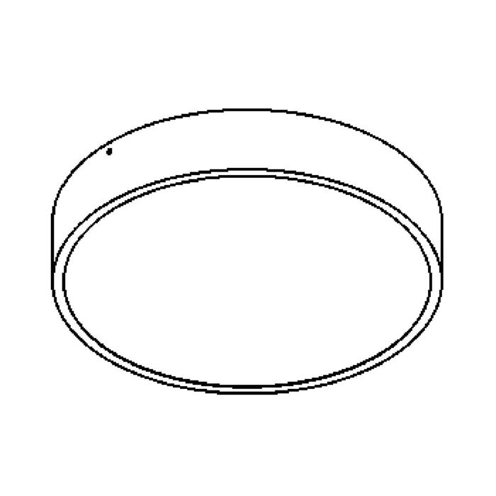 Drawing of 642.350.LED/.. - MONET ROND, opbouw plafondverlichting - polycarbonaat