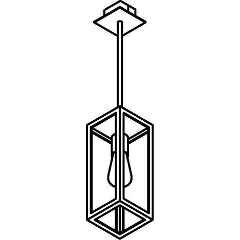 Drawing of W745.B3/.. - POLO, hanglamp met bolgewricht en opbouwdoos