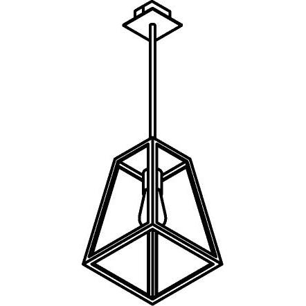 Drawing of W748.B3/.. - POLO, hanglamp met bolgewricht en opbouwdoos