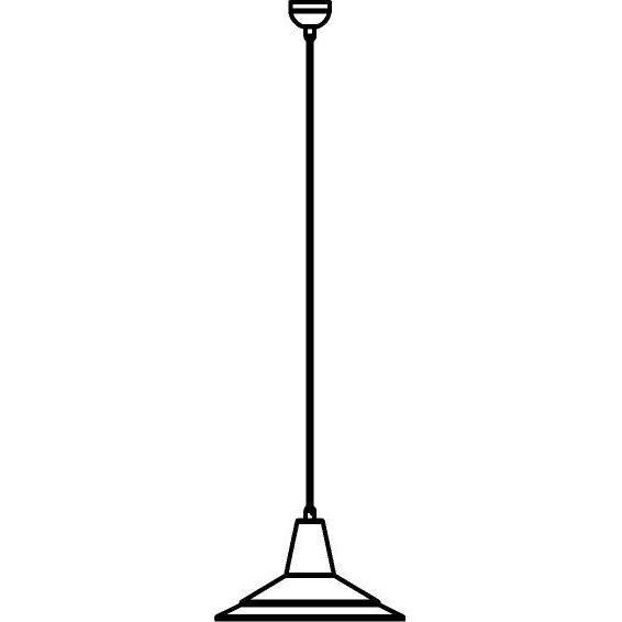 Drawing of 3501/.. - CIMBALO, suspension with textile cable - with built-up base