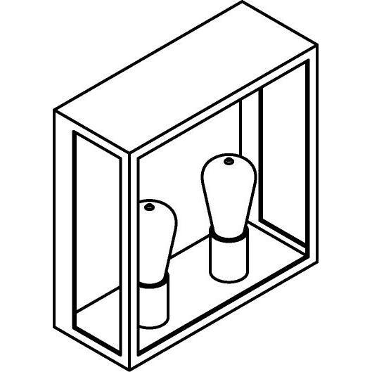 Drawing of W738.B/.. - POLO, opbouw wandlicht