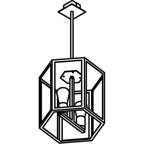Drawing of W747.2.B3/.. - POLO, hanglamp met bolgewricht en opbouwdoos